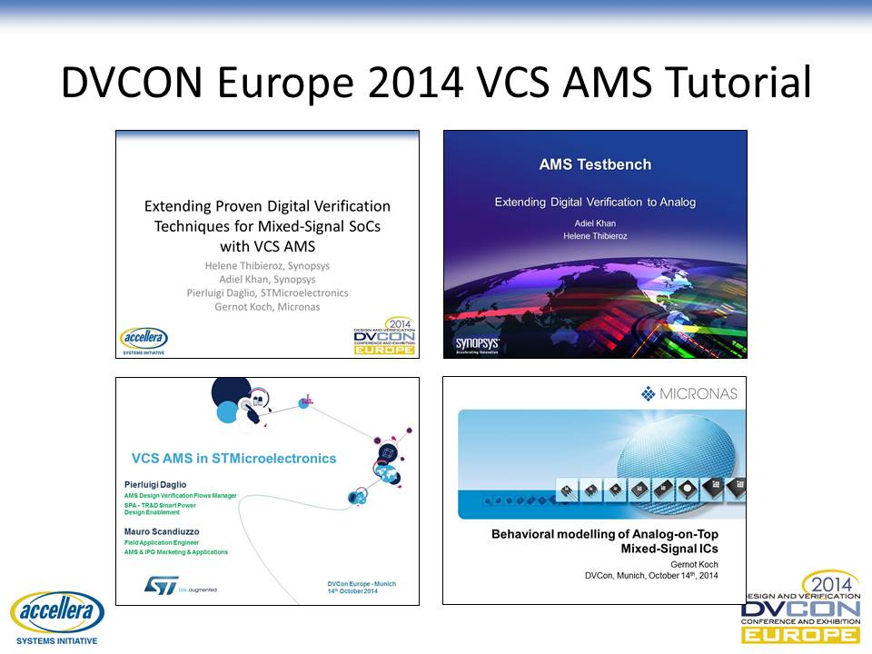DVCON 2014 VCS AMS Tutorial