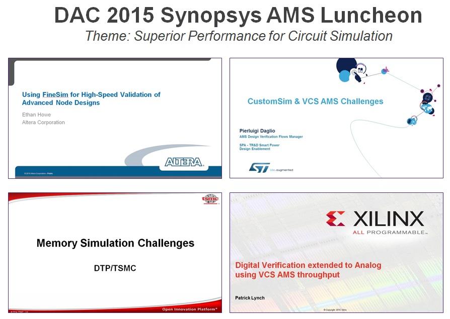 DAC Synopsys AMS Luncheon