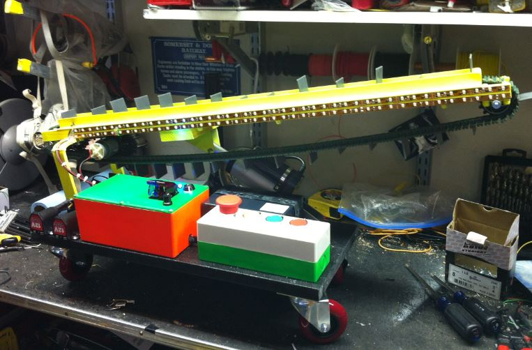 Conveyor belt toy design and built by Mick