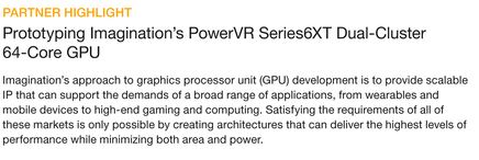Synopsys Insight Article. Imagination PowerVR 6XT on HAPS using ProtoCompiler