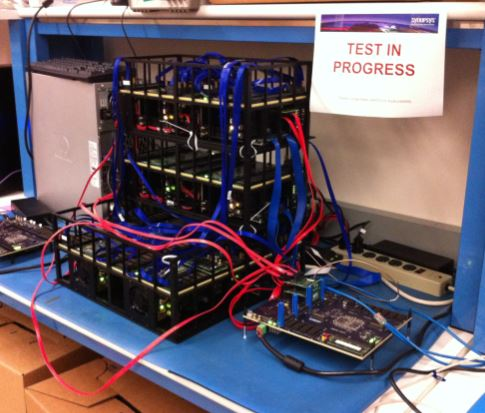 Picture of HAPS Deep Trace Debug development and regression station