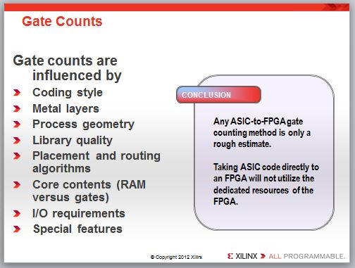 ASIC to FPGA mapping considerations