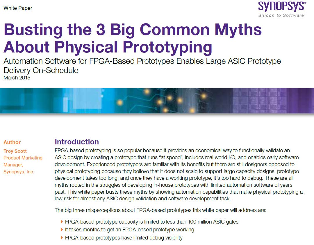 New Whitepaper, Busting the Myths Prototyping