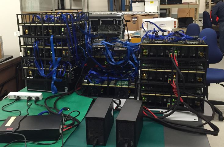 HAPS Super Chain Testing at Synopsys HAPS Lab, 64 FPGA's operating together