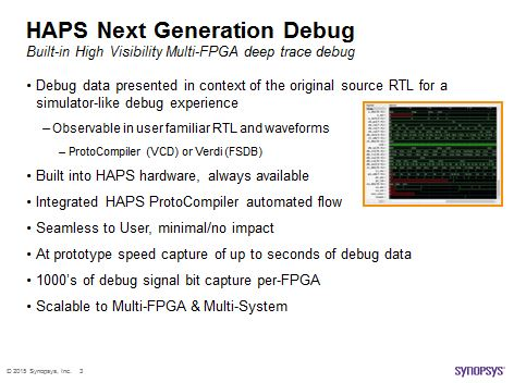 HAPS Next Generation built-in, always available debug