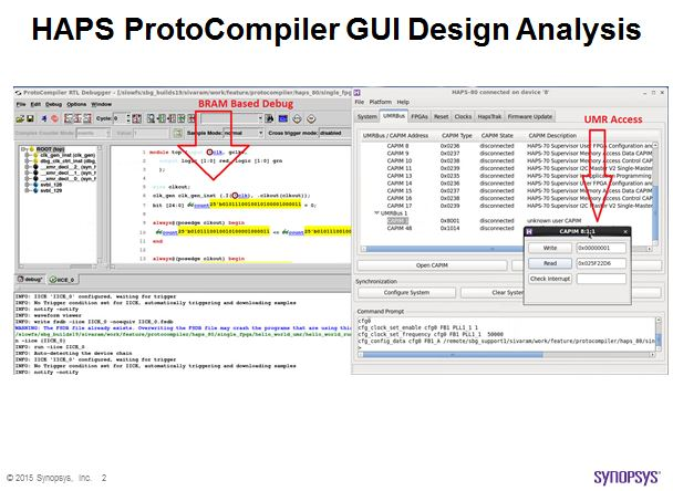 HAPS ProtoCompiler for Xilinx UltraScale VU440 Design Analysis GUI