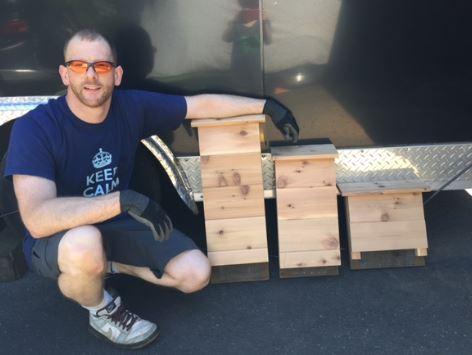 Mick built bat boxes, Mick loves bats!