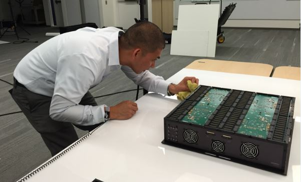 HAPS PMM Polishes HAPS Xilinx UltraScale VU440 based system during photo shoot
