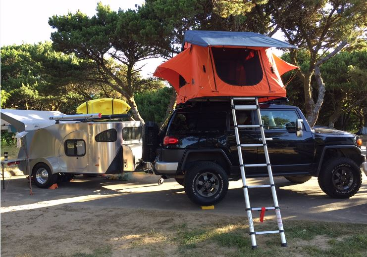 Tepui tent installed on top of my Toyota truck