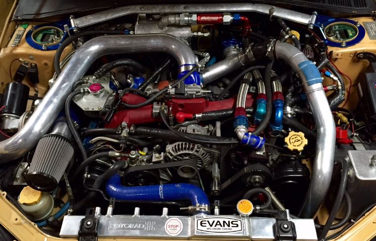 High Performance Engine in Micks Subaru Wagon Race Car