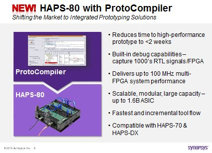HAPS-80 with ProtoCompiler Benefit Summary