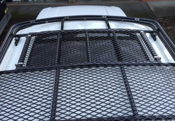 Sunroof roof rack cover installed