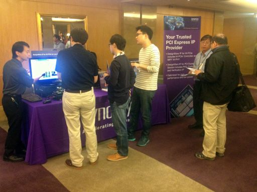Visitors to Synopsys' Booth at Devcon Taipei 2013