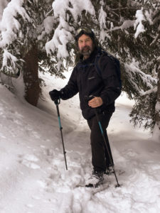 Dr. Rogers - Snowshoeing in Switzerland