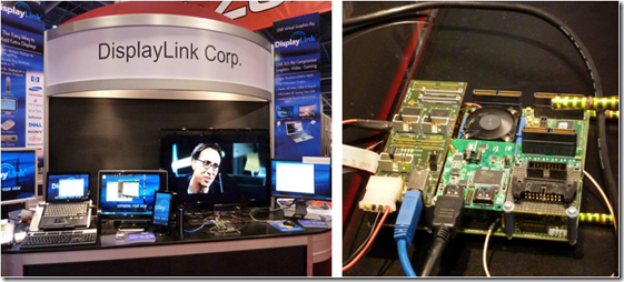 DisplayLink Booth and Synopsys HAPS-51