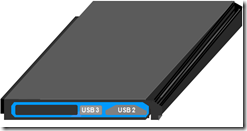 BluLightning Card showing USB 3.0 recepticales