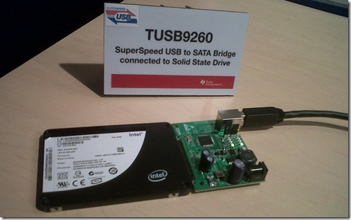 TI SuperSpeed USB 3.0 to SATA chip TUSB9260