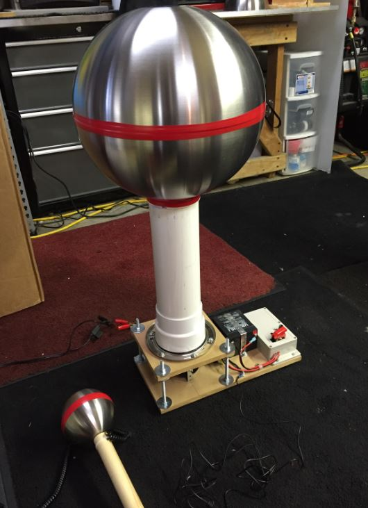 Mick's home build Van de Graaff Generator