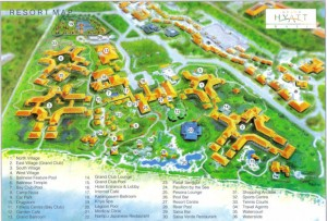 The Grand Hyatt Bali Map in Color