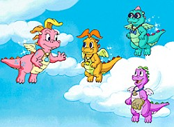 Dragon Tales Zak And Wheezie Flying